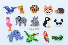 Animaux en perles chauffantes. Beads animals pattern.                                                                                                                                                                                 Plus