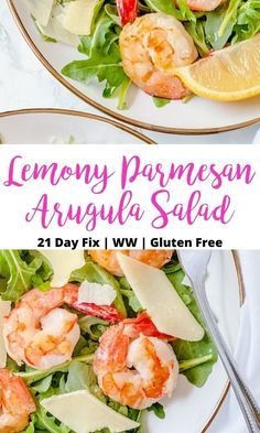 This Lemony Arugula Salad may be the easiest, quickest, most delicious 21 Day Fix salad you can make.  Make this Arugula Salad recipe for lunch, dinner, or an easy to throw together side. Clean Dinner Recipes, Clean Eating Recipes, Lunch Recipes, Arugula Salad Recipes, Healthy Salad Recipes, Healthy Food, Clean Eating Breakfast, 21 Day Fix, Summer Salads