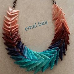 Peyote necklace beaded by Emel Bas from Turkey