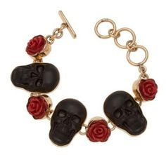 Skull and Rose bracelet from Kesha Rose by Charles Albert