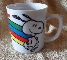Peanuts Snoopy Vintage Mug Rainbow This Has Been a Happy Day