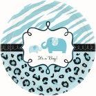 Sweet Safari Boy Small Paper Plates (Value Pack of 18)