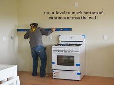 Installing Kitchen Cabinets - Momplex Vanilla Kitchen | Ana White