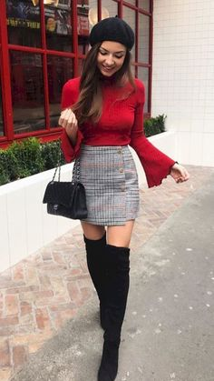 50 Best Outfit for Women In Their - Mode Outfits Winter Fashion Outfits, Fall Winter Outfits, Look Fashion, Stylish Outfits, Autumn Fashion, Work Outfits, Teen Fashion, Dress Outfits, 20s Fashion