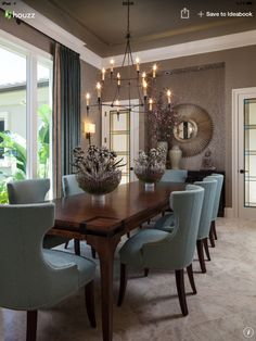 Love Everything About This Room! Royalton Model   Old Palm Golf Club    Transitional   Dining Room   Miami   Courchene Development Corp