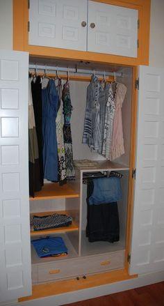 Cómo forrar un armario empotrado.