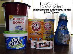 Clover House: DIY Laundry Detergent