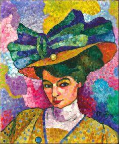 Femme au Chapeau, 1906 - Jean Metzinger -
