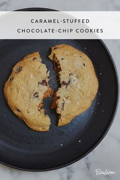 Caramel-Stuffed Chocolate-Chip Cookies via @PureWow via @PureWow
