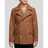 Kent and Curwen Gold Button Peacoat - Bloomingdale's Exclusive $695