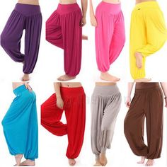 Hot Womens Harem Yoga Pant Belly Dance Comfy Loose Boho Wide Club Trousers M-XXL. Dance Outfits, Cool Outfits, Yoga Pants, Harem Pants, Aladdin Costume, Jasmine Costume, Boho Fashion, Womens Fashion, Belly Dance