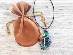Items similar to Blue Agate Family Pendant Necklace, Chakra Tree, Wire wrapped, Crystal Family Tree , Clay pendant - courage stone -Protection pendant on Etsy Dichroic Glass Jewelry, Gemstone Jewelry, Unique Jewelry, Tree Of Life Pendant, Rainbow Colors, Chakra, Agate, Wire, Pendant Necklace