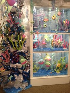 Under the Sea Display from our Las Vegas Showroom at the World Market Center - Winter 2014! #burtonandburton #underthesea
