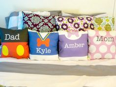 Custom Disney Character throw pillows.