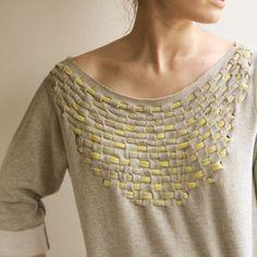 sweat tresse DIY : customisez un sweat en le tissant