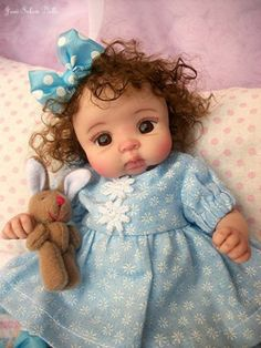 "❤OOAK HAND SCULPTED BABY GIRL ""GENEVIVE"" BY: JONI INLOW* DOLLY-STREET❤"