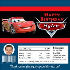 Disney Cars Candy Bar Wrapper Party Favor Digital by PartiesR4Fun, $7.00