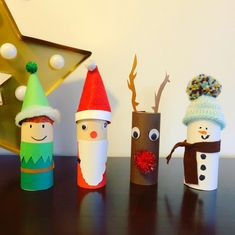 Christmas DIY in toilet paper roll Christmas DIY in . - Christmas crafts in toilet paper roll Christmas crafts in toilet paper roll - Christmas Crafts For Kids, Christmas Time, Christmas Decorations, Christmas Ornaments, Holiday, Paper Towel Crafts, Toilet Paper Roll Crafts, Homemade Ornaments, How To Make Ornaments