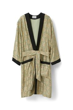 Emiko Jacquard Kimono Dress, Sea Foam