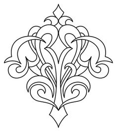 Gothic Corner Flourish | Urban Threads: Unique and Awesome Embroidery Designs