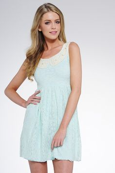 Bell Mint Collared Lace Dress £22