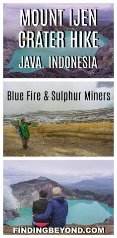 Check out our experience taking on the Mount Ijen crater hike to see the epic Ijen blue fire and the hardworking Ijen miners. It's An extraordinary volcano! | Java Highlights | Best of Java | How to visit Mt Ijen | Mt Ijen tips | Mt Ijen tours | How to visit Mt Ijen | Backpacking Java | Best volcanoes in Java | Java activities | Hikes in Java | Guided tour of Mt Ijen