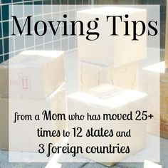 Moving tips and tricks from a mom that has moved more than 25 times in 12 states and 3 foreign countries. These tips will reduce the stress of moving, save you money and make your move process go more smoothly and successfully. Moving House Tips, Moving Home, Moving Tips, Moving Hacks, Moving Stress, Moving Across Country Tips, Happy Moving Day, Moving To Another State, Moving To Texas