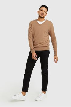 Mongolian Cashmere V-Neck Cashmere Sweater Men, Men Sweater, Best Sellers, That Look, Normcore, V Neck, Pairs, Jeans, Classic