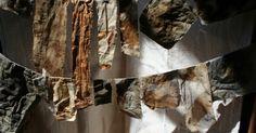 Natalie Magnin - Zamirte Textiles - Textile and Fiber Art: Indigo, Rust, Coffee and Feathers Textile Dyeing, Textile Fiber Art, Textiles, Coffee Can Crafts, Heart Art, Fabric Art, Surface Design, Printing On Fabric, Rust