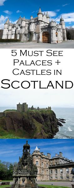 Scotland Palaces + Castles to Visit. Best Scottish historical sites as part of this Scotland Travel Guide Series.Get inside tips on visiting Edinburgh Castle, Holyrood Palace, Stirling Castle, Dunnottar Castle, and Balmoral Palace. #travel #lpworldtravel #Scotland #UnitedKingdom #Britain #travelblog #travelguide