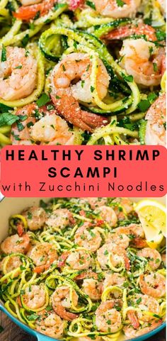 Healthy Shrimp Scampi with Zucchini Noodles Healthy Shrimp. - Healthy Shrimp Scampi with Zucchini Noodles Healthy Shrimp Scampi with Zucchi - Seafood Recipes, Cooking Recipes, Healthy Recipes, Bariatric Recipes, Fish Recipes, Casseroles Healthy, Cooking Tips, Chicken Recipes, Clean Eating