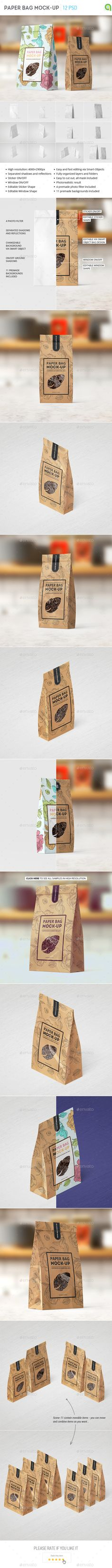 Paper Bag Mockup — Photoshop PSD #showcase #cookies • Available here → https://graphicriver.net/item/paper-bag-mockup/15486071?ref=pxcr