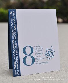 Simple and elegant #hanukkah #8happynights #dreidel #cards