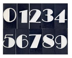 art deco font for table numbers