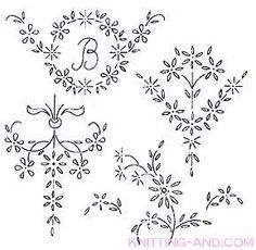 Floral spray embroidery designs