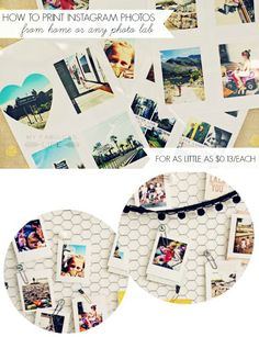 How to print Instagram photos at home, or from any photo service ON THE CHEAP!  #projectlife #instagram #diy #photodisplay