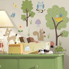 NAKLEJKI DEKORACYJNE leśne zwierzęta  taka ściana mi się podoba
