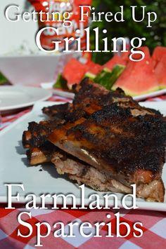 Farmland Pork Spareribs #GetFiredUpGrilling #GetUpandGrill #WeaveMade #ad | The Modern Dad