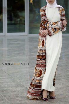 Annah Hariri offers high end hijab and designer islamic clothing. Shop for maxi dresses, maxi skirts, modest kids wear, muslim wedding dresses, jalabiya Islamic Fashion, Muslim Fashion, Modest Fashion, Fashion Outfits, Womens Fashion, Hijab Fashionista, Modest Wear, Modest Outfits, Modest Clothing