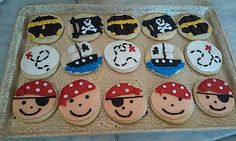 Pirate themed sugar cookies