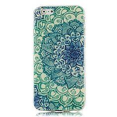 """VCOER iPhone 6 Funda 4.7 """" - La Piel de TPU Protector de la Cubierta Suave Carcasa de Silicona Caso para iPhone 6 4.7 pulgadas - El Totem Flores Verde - http://www.tiendasmoviles.net/2015/10/vcoer-iphone-6-funda-4-7-la-piel-de-tpu-protector-de-la-cubierta-suave-carcasa-de-silicona-caso-para-iphone-6-4-7-pulgadas-el-totem-flores-verde/"""