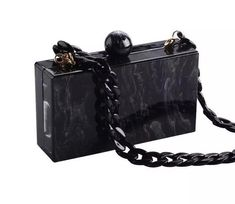 Urban Ring Clutch The Future is Human ~ Canvas Crossbody Handpainted Statement Bag with Chain Hip Bag