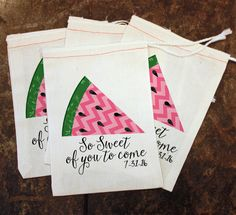 Summer BBQ Favor Bags - Summer Party Treat Bag / BBQ Goody Bag / Watermelon Gift Bag / Mens Barbecue Candy Decor / So Sweet of You to Come by ScrapendipityBags on Etsy