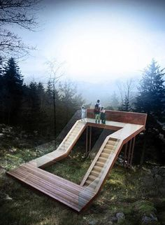 We dont usually write about sculptural installations, however this one-of-a-kind viewing point has touched our soft spot for unique structures… Modern Landscape Design, Landscape Architecture Design, Modern Landscaping, Urban Landscape, Landscaping Ideas, Landscaping Software, Urban Furniture, Street Furniture, Luxury Furniture