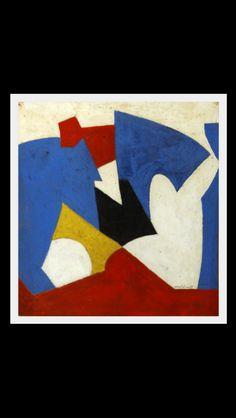 Serge Poliakoff - Composition abstraite, 1951 - Gouache sur papier kraft - 45 x 42 cm Stuart Davis, Abstract Paper, Matisse, State Art, Pattern Art, Gouache, Composition, Collage, Paintings