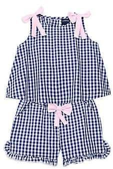 Andy & Evan Baby Girl's Two-Piece Gingham Tank Top & Shorts Set