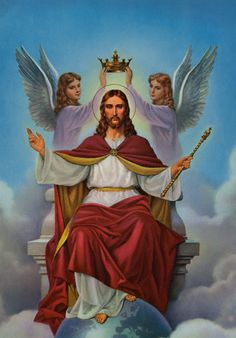 Christ the King - Glory to God in the Highest! O Jesus, King most wonderful! Thou Conqueror renowned! Thou Sweetness most ineffable! in whom all joys are found! Jesus Our Savior, King Jesus, Jesus Is Lord, Image Du Christ, Image Jesus, Religion, Jesus E Maria, Pictures Of Jesus Christ, Christ The King