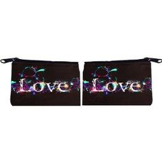 Rikki Knight Lighted Love Design Scuba Foam Coin Purse Wallet - unisex - Affordable gift for all occassions