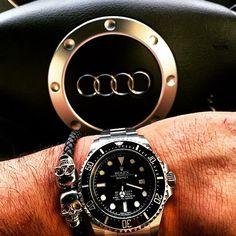 Instagram media by wrist.gamer - @northskull bracelet matching with the Rolex Sea dweller 116660 @my.watch.love #rolex #seadweller #wristgame #watchporn #wristshot #watchcollector #elegant #essentials #timepiece #wristgamer #style #fashion #gent #dapper #haute #horology #hautetime #jewels #jewelry #classy #menswear #billionaire #luxury #lifestyle #luxurylifestyle #audi #tt
