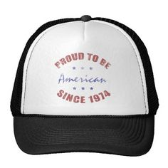 1974 Patriotic Birthday Hat, for men and women who are proud to be American. #40 #40th #40thbirthday